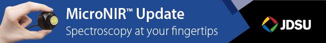 JDSU MicroNIR Update - Spectroscopy at Your Fingertips